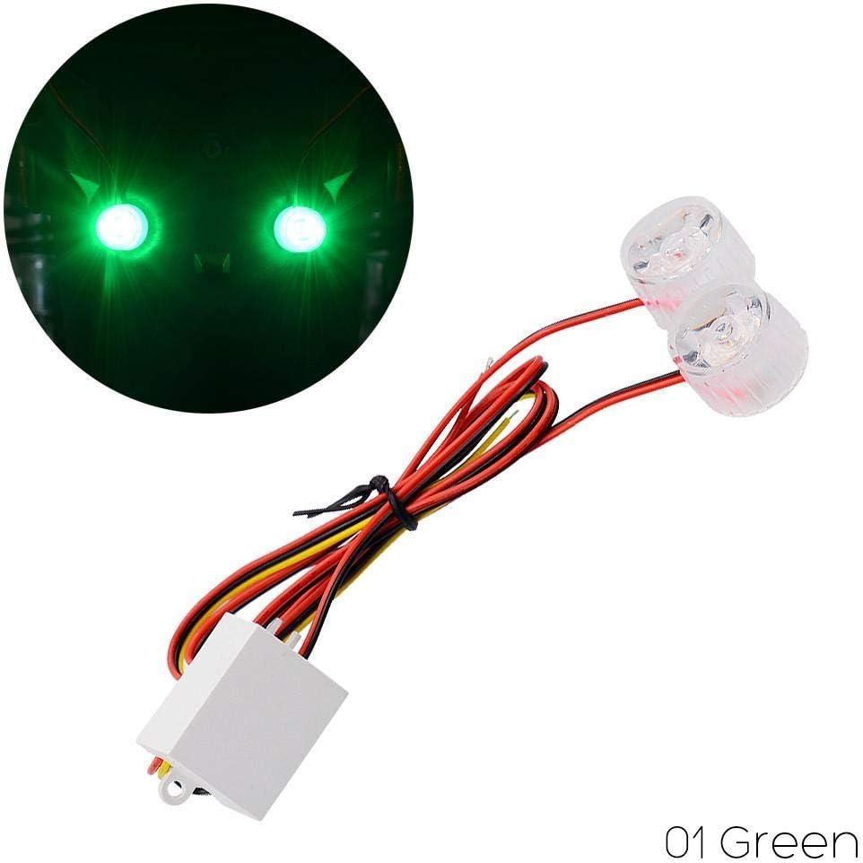Brake Light Warning Lamp Red RUNGAO 2PCS 12V-80V Motorcycle Taillight Bright Electrocar LED Flashing Lights