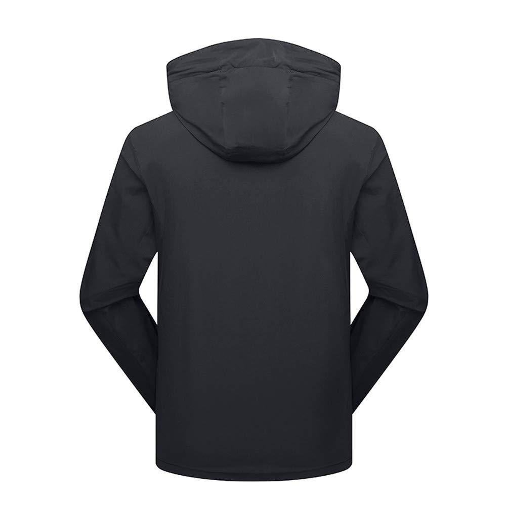 Men's Autumn Winter Four Side Elastic Sport Outdoor Assault Waterproof Casual Sports Coat Gray