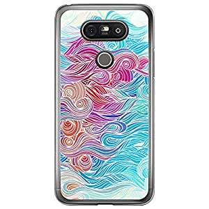 Loud Universe LG G5 Waves 1 Designed Transparent Edge Case - Multi Color