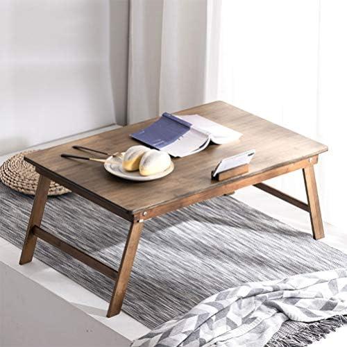 ラップトップベッドトレイテーブル折りたたみラップデスク多機能ラップデスク朝食サービングベッドトレイソファトレイ折りたたみ式の脚自然な色竹100% (Color : Brown)