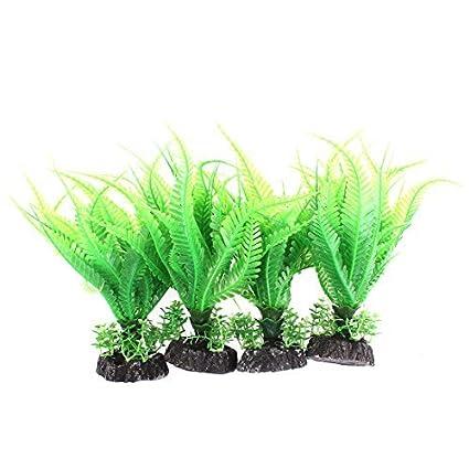 eDealMax acuario de plástico Artificial Bajo el agua las plantas del jardín de la hierba DE