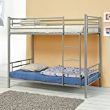 Denley Collection Metal Twin-over-Twin Bunk Bed