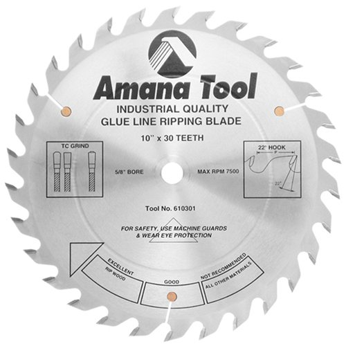 Amana Tool - 610301 Carbide Tipped Glue Line Ripping 10