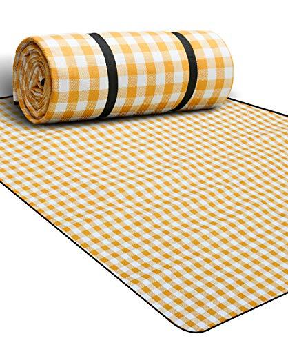 Gutsbox 200 x 200 cm XXL picknickdeken, warmte-isolerend, waterdicht met draaggreep