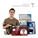 Construction ID Card Printer System for Constructions Sites: Everything you need for your business: AlphaCard printer, Construction ID design software, ID Supplies