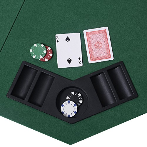Giantex 48u2033 Folding Poker Table Top Green Octagon ...