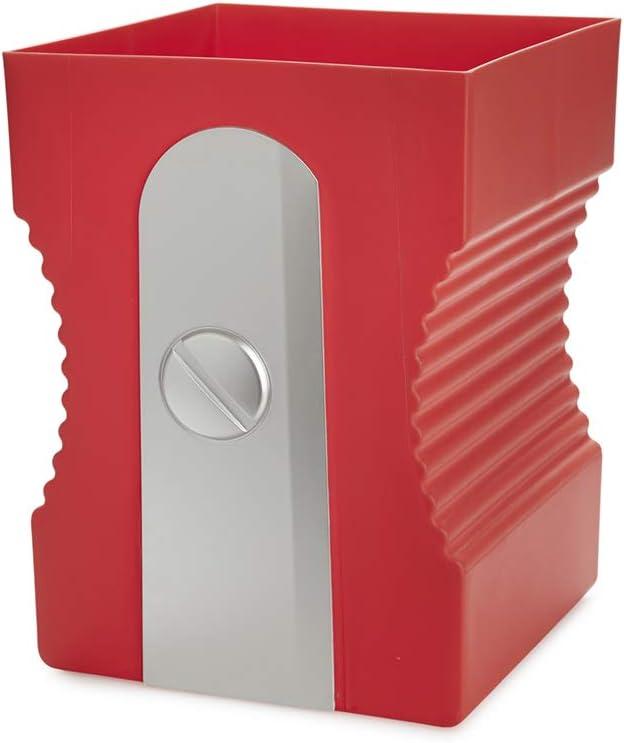 Balvi Corbeille /à Papier Sharpener Couleur Rouge Corbeille de Crayon en Forme de Crayon Plastique ABS//PP 29cm