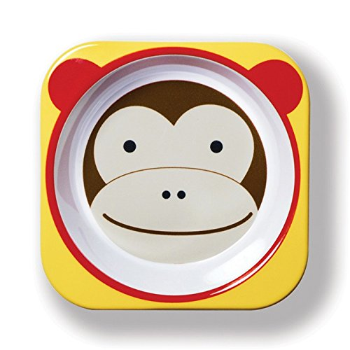 - Skip Hop Baby Zoo Little Kid and Toddler Melamine Feeding Bowl, Multi Marshall Monkey