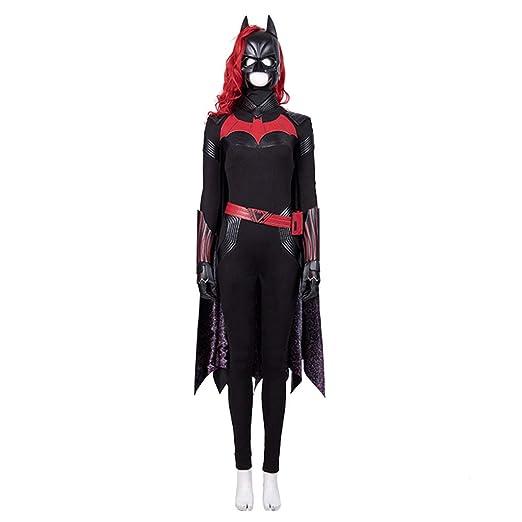 nihiug Batwoman Batman COS Traje Femenino Manto Capucha ...