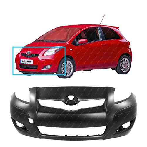 MBI AUTO - Primered, Front Bumper Cover Fascia for 2009 2010 2011 Toyota Yaris Hatchback 09 10 11, TO1000352