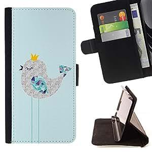 Momo Phone Case / Flip Funda de Cuero Case Cover - Lindo soñoliento Art Dibujo Polígono - HTC DESIRE 816