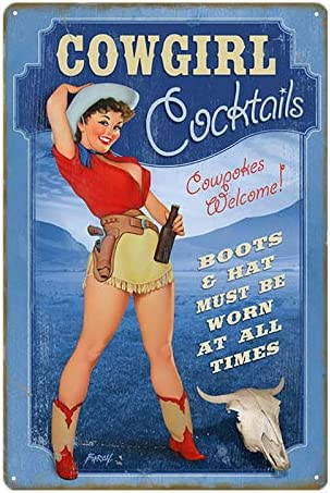 AILE Metal Tin Sign Cheers Beer Chic Home Bar Vintage Metal Signs Home Decor Vintage 8x12 Inch