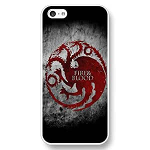 UniqueBox - Customized Personalized White Hard Plastic 5c Case, Game of Thrones winter is coming iPhone 5C case, Only Fit iPhone 5C Case