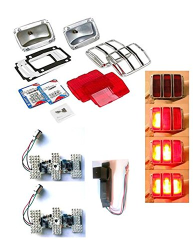64-66 Mustang Tail Light Rebuild Kit - LED (Ultrabright)