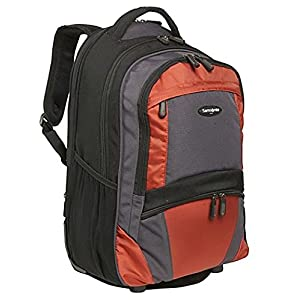 Samsonite Wheeled Laptop Backpack in Black-Orange