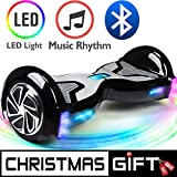 TOMOLOO Hoverboard, Electric Self-Balancing Smart Scooter, UL 2272 Certified Hover Board 6.5 Two-Wheel with Music Speaker and LED Light