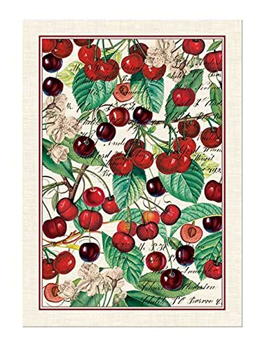 Michel Design Works Black Cherry Cotton Kitchen Towel, Multicolor