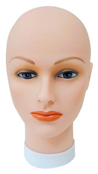 amazon com celebrity cosmetology bald head for wigs beauty tools
