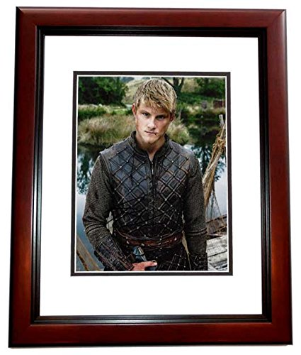 - Alexander Ludwig Signed - Autographed Vikings 8x10 inch Photo MAHOGANY CUSTOM FRAME - Guaranteed to pass PSA or JSA - The Hunger Games Actor