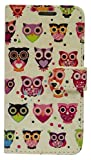Emartbuy Multicolored Owls Premium PU Leather Desktop Stand Wallet Case Cover Pouch with Credit Card Slots for Xiaomi Mi 4i