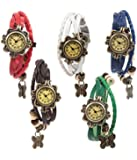 Felizo Combo Of 5 Analogue White Dial Womens Watch-B-5_Red-Brow-White-Green-Blue