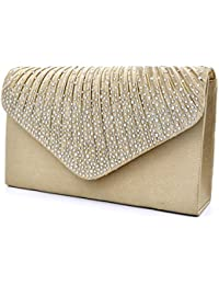 453956b1298f Women Evening Envelope Handbag Party Bridal Clutch Purse Shoulder Cross  Body Bag