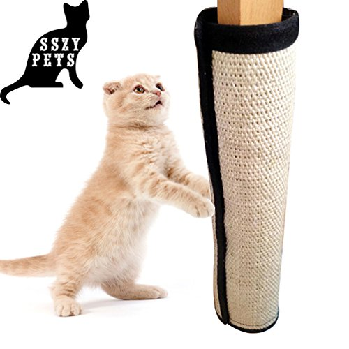 Cat-Scratching-Mat-Catnip-Cat-Toy-Set-Cat-Scratch-Protector-for-Cloth-Couch-Chair-Desk-Legs-Cat-Scratcher-Replacement-for-Cat-Tree-Cat-Scratching-Post-Natural-Sisal-Mat-with-Strong-Velcro