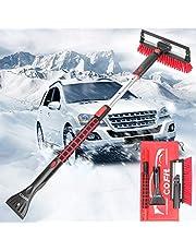 COFIT Brosse à neige 3 en 1 détachable avec raclette et grattoir à glace, outil de dégivrage de glace avec poignée en mousse pour voiture, camion, SUV