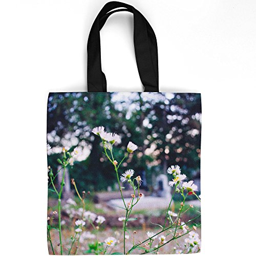Daisy Votive - Westlake Art - Flower Plant - Tote Bag - Fashionable Picture Photography Shopping Travel Gym Work School - 16x16 Inch (12B6A)