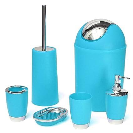 Amazon.com: Juego de accesorios de baño – 6 piezas de basura ...