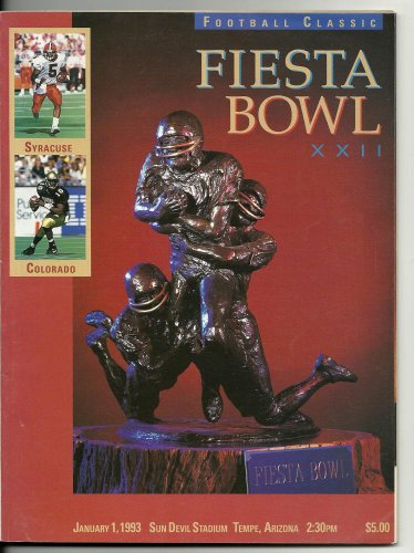 1993 Fiesta Bowl Game Program Syracuse Colorado - Syracuse Bowl Games