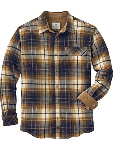 - Legendary Whitetails Men's Buck Camp Flannels Arrowood Stone Plaid Large