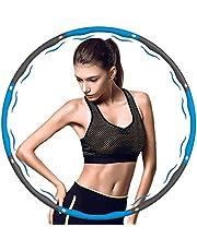munloo Hula Hoop, Hula Hoop Fitness, 7 (83 cm in diameter) Afneembare secties, perfect voor training, fitness, buikvorming