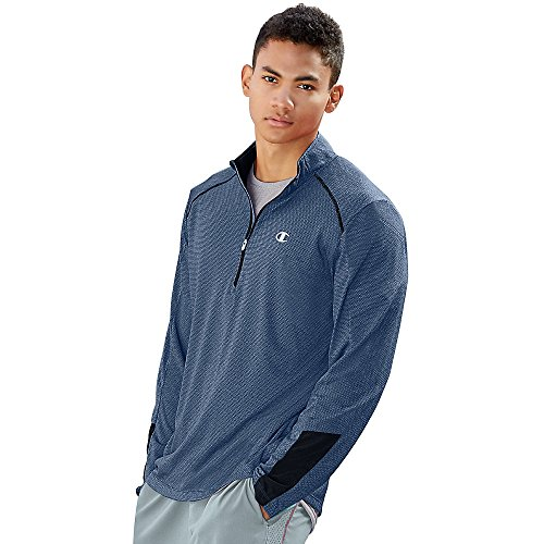 Champion Vapor 6.2 Men's Half Zip_Seabottom Blue Heather/Navy_S