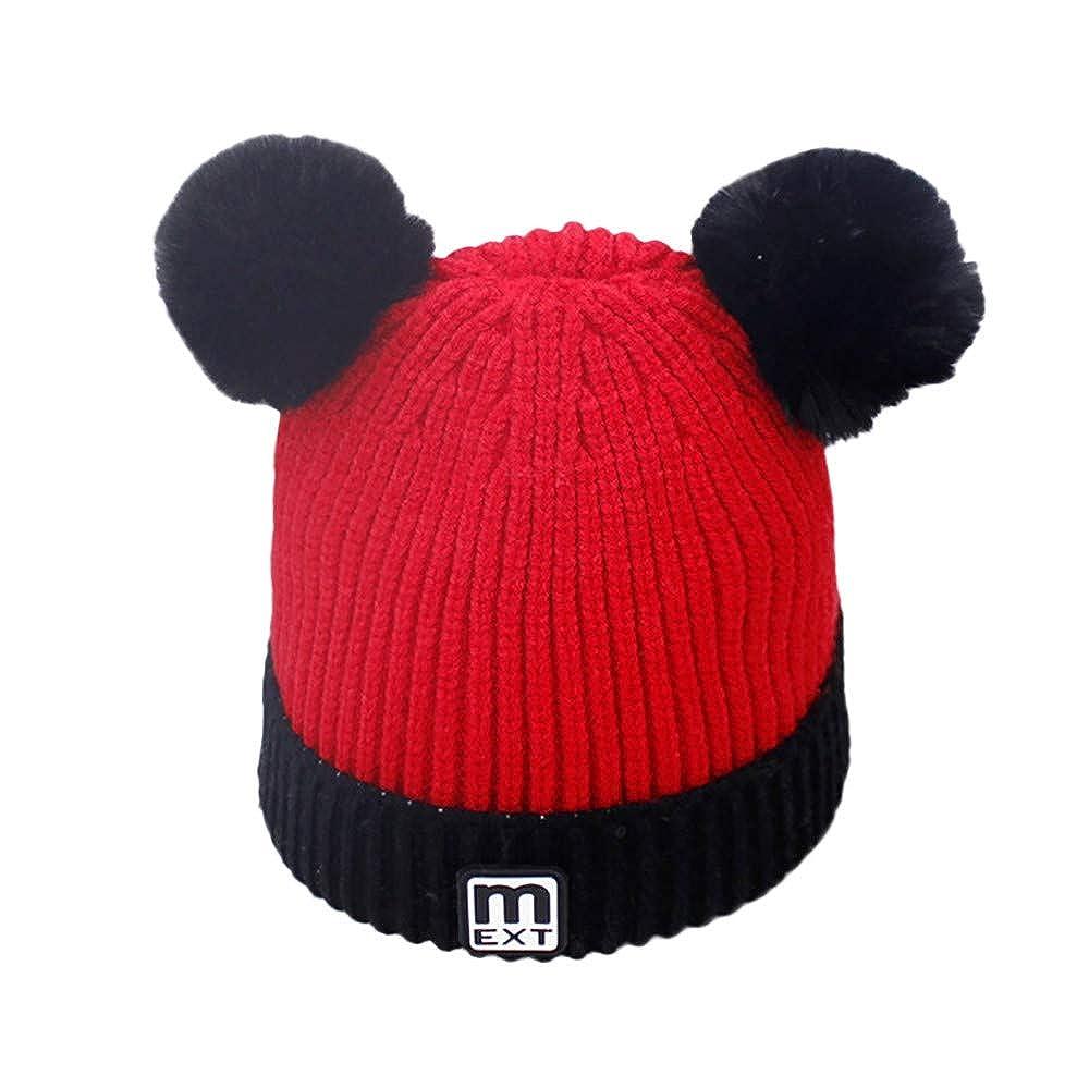 3bf85149152db Baby Beanie Warm Hat-Infant Boys Hat Cute Soft Pom Knit Toddler ...