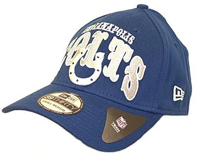 New Era NFL Licensed Indianapolis Colts Curve Classic Structured Flex-Fit Hat Cap Lid (Small/Medium)