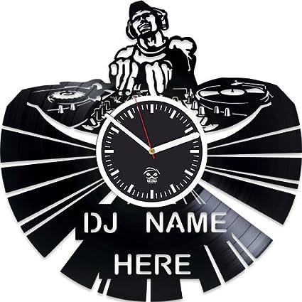 Amazon com: Dj Vinyl Record Wall Clock, Dj Valentines Day