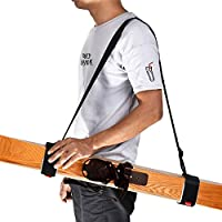 Unisex Ski Carrier Adjustable Shoulder Carry Strap Belt Clip Sling for Skiboard