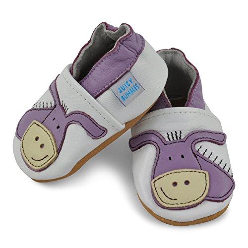 Juicy Bumbles - Zapatos de Bebé – Ballena - 0-6 Meses Burro púrpura