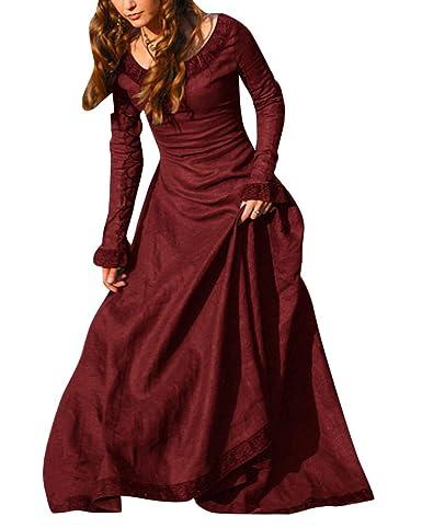 ShiFan Mujer Trajes Disfraz De Medieval Vestidos Goticos Disfraces para Fiestas Cosplay: Amazon.es: Ropa y accesorios