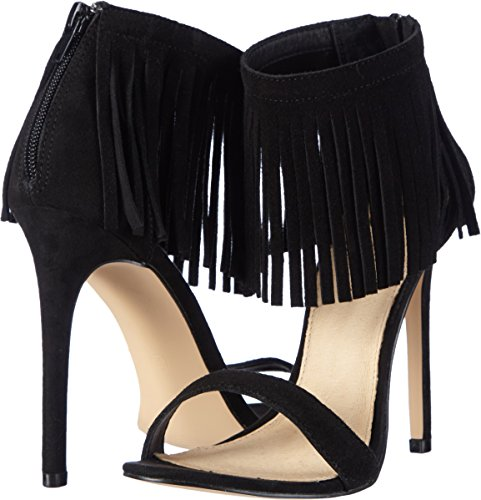 Mujer Cow Sandal Suede Strada La Black Sandalias Negro qAP74OHw