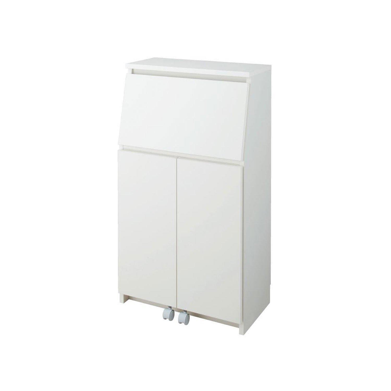 薄型ライティングビューロー ホワイト タイプ/幅×高さ(cm):A/59.5×109 B079RYSGVM