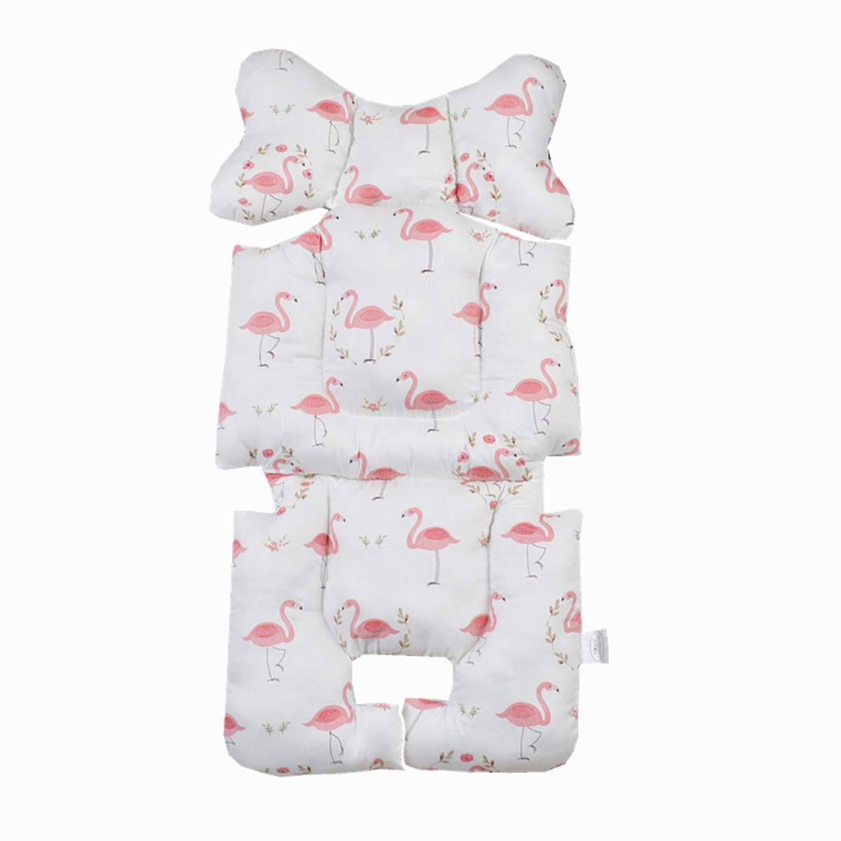 Toddler Cotton Car Seat Head /& Body Supports Infant Seat Pad Carseat Neck Support Cushion Pink Flamingos Baby Seat Liner Best Gift for Baby Kids Baby Car Seat Insert