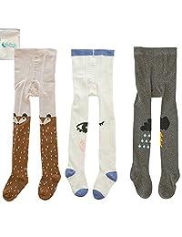 Gellwhu 3-Pack Cute Kids Girls Boys 0-3T Tights Legging Pants Warm Stockings