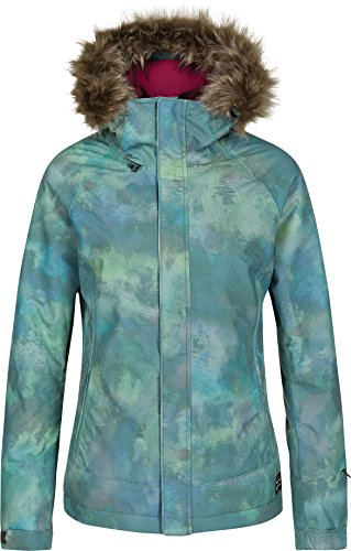 O'Neill Women's Curve Jacket, Green Allover Print, Medium (Oneill Snowboard Jackets)