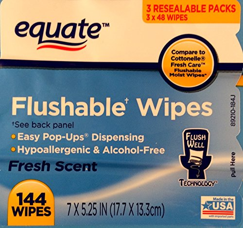 Equate-Flushable-Wipes-10-pack-of-48-Ea-480ct-Compare-to-Cottonelle