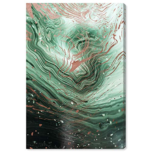 The Oliver Gal Artist Co. Abstract Wall Art Canvas Prints 'Agate En Emerald' Home Décor,