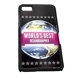 Negro carcasa para Blackberry Z100890rosa mundos mejor oceanógrafo trabajo