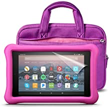 Fire HD 8 Kids Essentials Bundle with Fire HD 8 Kids Edition (Pink), NuPro Sleeve (Purple/Pink) and Screen Protector (Clear)