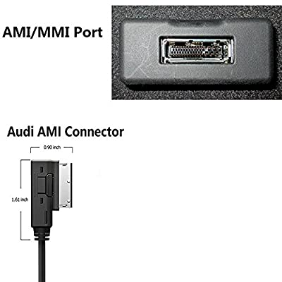 Moker AMI MMI Bluetooth Streaming Adapter for Audi and VW,Works with Apple iPhone iPod Android Bluetooth Capable Devices - Premium CSR Chipset Enjoy HiFi Music: Automotive